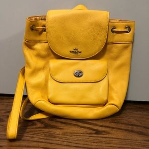 Yellow Coach Backpack